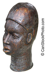 cabeza, Escultura, africano
