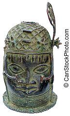 Escultura, bronce, africano