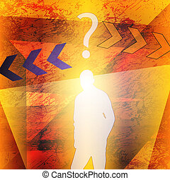 Abstract person background