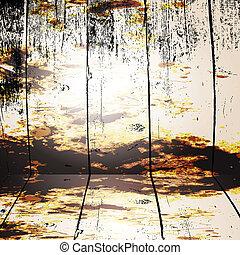 grunge interior vector background