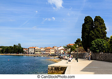 Sunny Embankment in Porec, Croatia