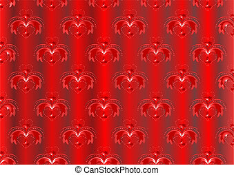 Red satin striped background with o