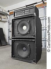 Grunge Garage Band Vintage Bass Amplifier