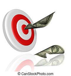 target - 3d illustration of target