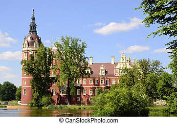 New castle in Bad Muskau - This beautiful castle surrounded...