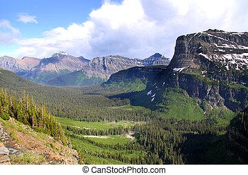 Logan pass - Scenic Logan pass in Glacier national park