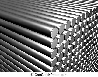 Metal rods - An illustration of metal rod background
