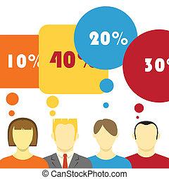 Talking people illustration