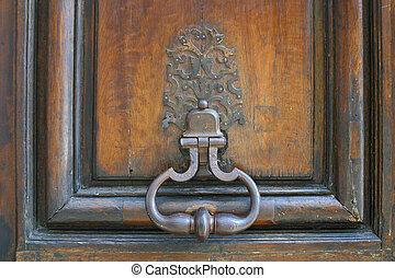 French Door Knocker - an old door knocker in Paris, France