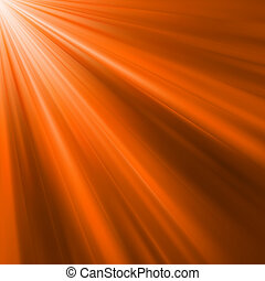Orange luminous rays. EPS 8 vector file included