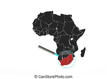 South africa - Rendered artwork with white background