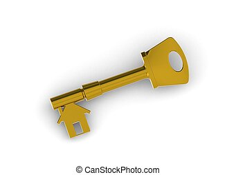 House key - Rendered artwork with white background