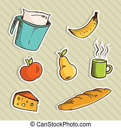 Healthy cartoon food