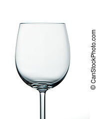 Empty crystal wine glass