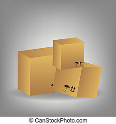 icon of boxes  vector illustration