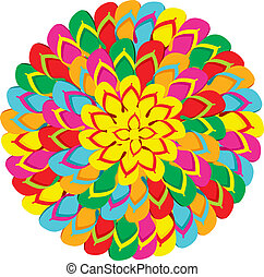 Flip flops mandala summer background - Mandala shape made...