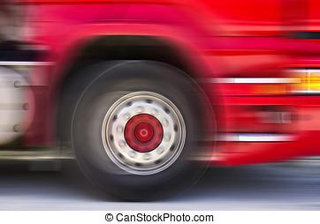 movimiento, camión