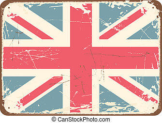 Vintage Tin Sign - Vintage style tin sign with the British...