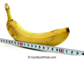 Large banana and measuring tape - Large banana and measuring...
