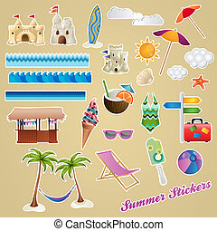 Colorful Summer Stickers