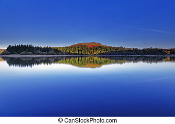 Dartmoor Reservoir - Burrator reservoir on Dartmoor National...