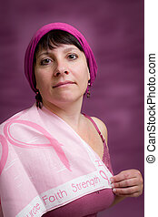 Breast Cancer Awareness - Portrait for breast cancer...