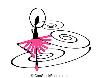 Ballet dancer - illustration of a ballet dancer twirling in...