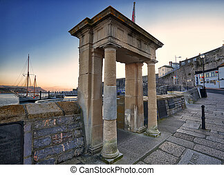 Mayflower Steps Arch, Plymouth, UK - Looking out from...