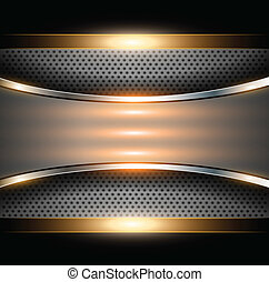 Abstract background elegant gold metallic, vector...