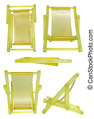 Yellow collapsible camp bed - Mobile stand in camp bed form...