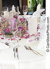 Beautiful floral table centrepiece with individual posies,...