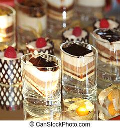 Gourmet dessert selection