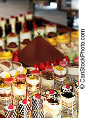 Gourmet catering for a special occasion with a buffet table...