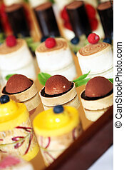 rows of tasty looking desserts