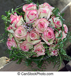 Beautiful bridal bouquet of pink roses - Beautiful bridal...