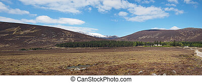 Spittal of Glenmuick with Lochnagar in the background. -...
