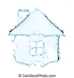 Cottage. New little cottage made from water splash