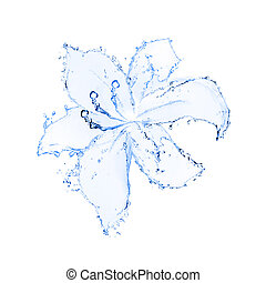 flower made of water.