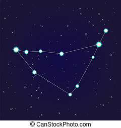Capricorn constellation - Constellation of Capricorn on...