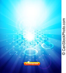 Vector blue shiny techno background - Vector technological...