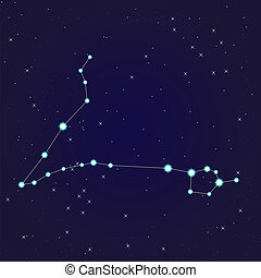 Pisces constellation - Constellation of pisces on night...