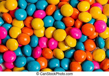 上色, 糖果
