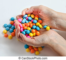 Candy in hands