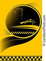 taxi, ciudad,  S, Plano de fondo, coche