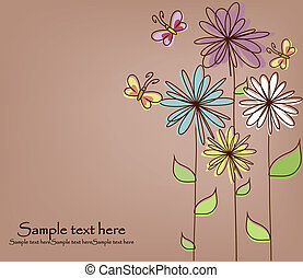 Beautiful flower card