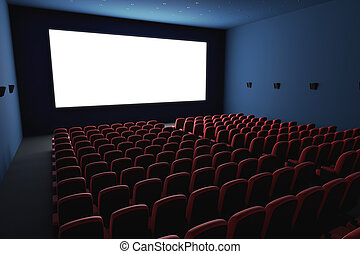 Cinema - Inside of the cinema Several empty seats waiting...