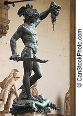 Perseus holding the head of Medusa - Statue of Perseus...