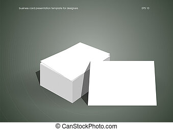 Business card presentation template for designers