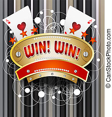 Gamble emblem - Emblem design for casinos, on line casinos,...