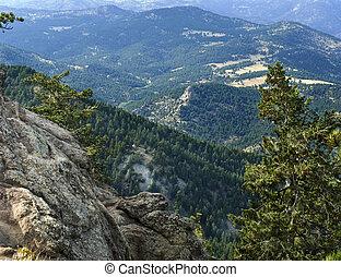 montanha, vista, colorado, EUA